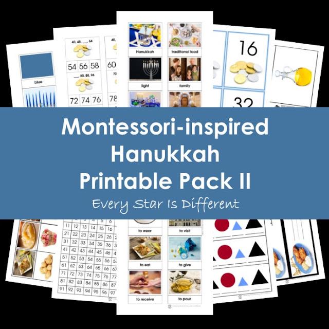 Montessori-inspired Hanukkah Printable Pack II