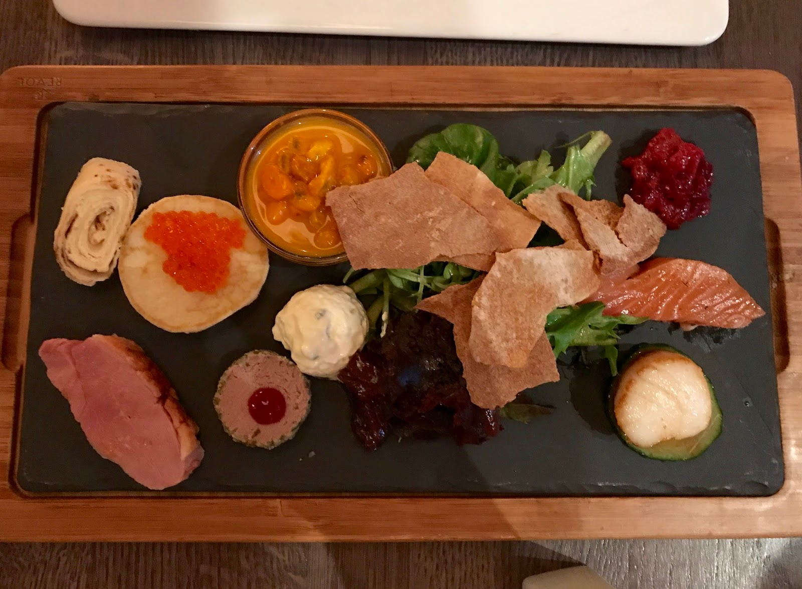 Traditional japanese wedding foods - The Starter Platter Had Many Traditional Norwegian Foods Including Reindeer Patte Dried Whale Fermented Salmon Duck Goat Cheese