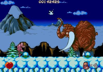 Chuck Rock - versión Mega Drive