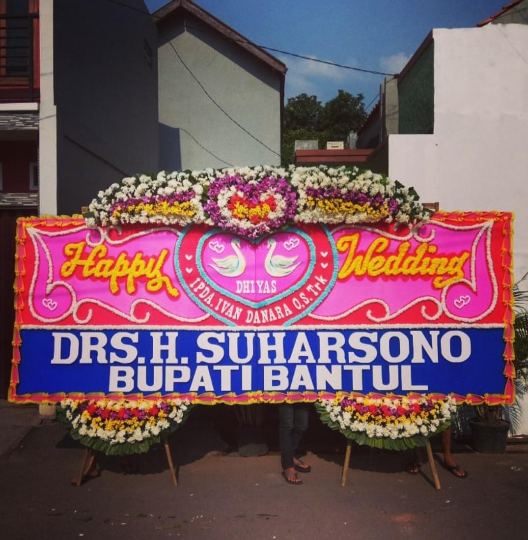 Bunga Papan Happy Wedding 017