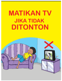 Ayo kita mematikan TV jika tidak ditonton www.simplenews.me