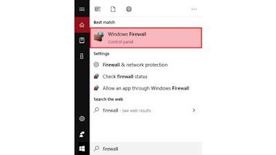 Mematikan Windows Firewall Melalui System & Security
