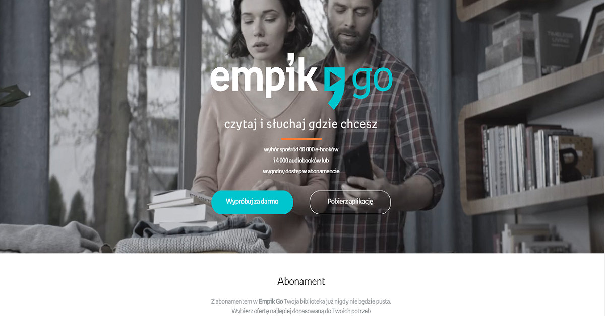 Empik Go - abonament e-booki bez limitu