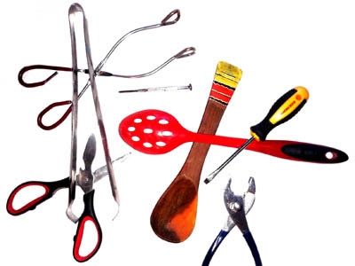 Image of tools and kitchen utensils