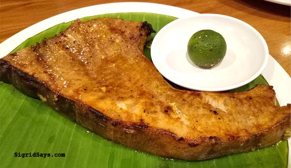 Aboy's restaurant - Bacolod restaurants - grilled blue marlin