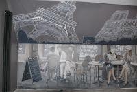 Aranżacja ściany w garze, wystrój baru, Gdańsk
