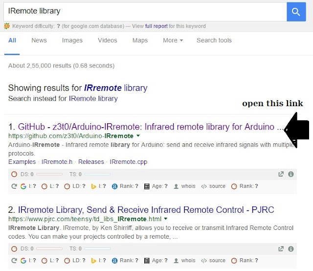 search on google- Iremote library