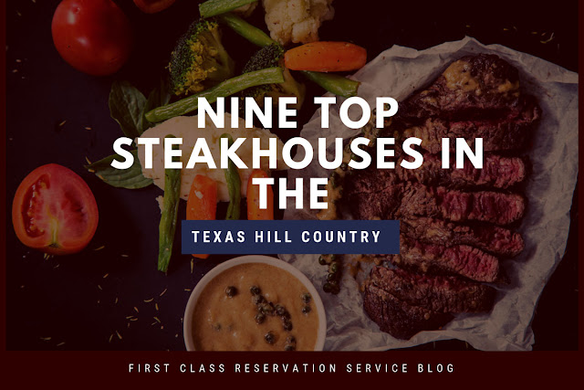 Nine Top Steakhouses in Texas Hill Country blog cover image