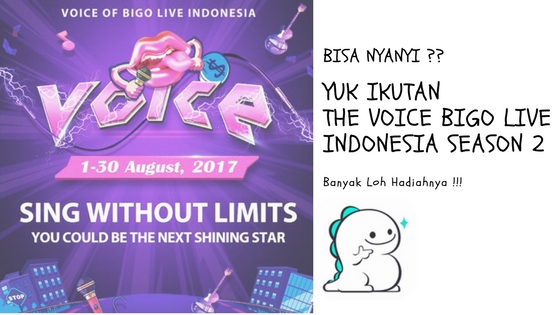 Suka Nyanyi ? Yuk Ikutan The Voice of Bigo Live  Indonesia Season 2