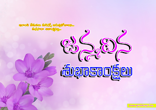 """janmadina subhakankshalu"" Telugu birthday greetings"