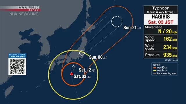 Topan Hagibis Hantam Jepang, Satu Orang Tewas