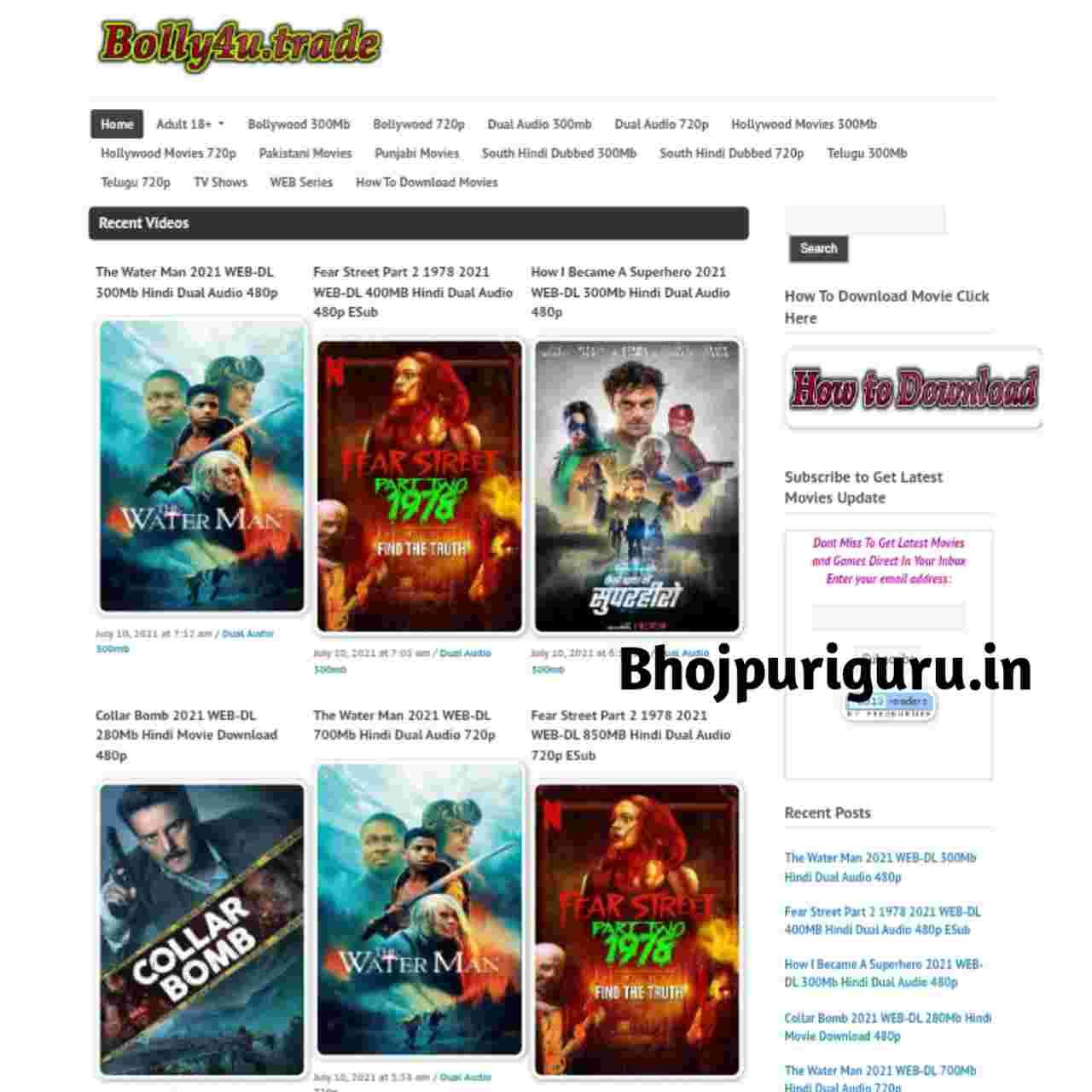Bolly4u 2021: Bolly4u Bollywood Movies, Hollywood And South Hindi Dubbed Movies - Bhojpuri Guru