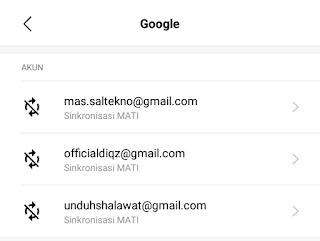 akun gmail berhasil ditambahkan