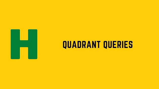 HackerRank Quadrant Queries problem solution