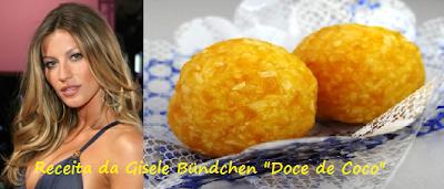 """Receita da Gisele Bündchen """"Doce de Coco"""""""