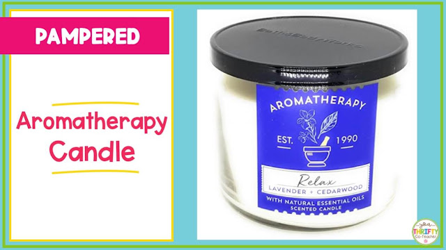 Help the teacher relax by giving her this candle as a gift.