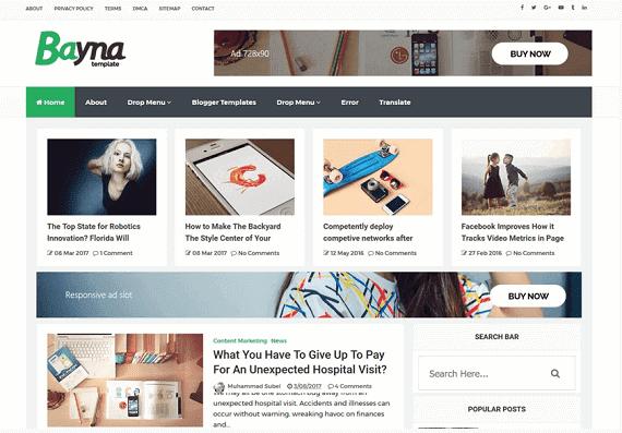 Bayna Blogger Template