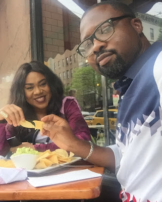 Stella Damasus and Daniel Ademinokan loved up photos
