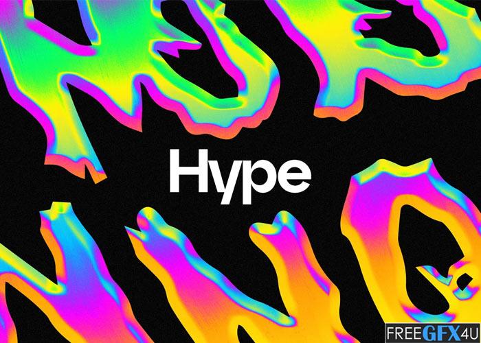 Hype Neon Chrome Effect