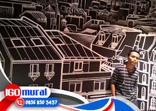 Gambar mural Hitam Putih