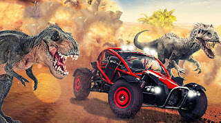 Download Game Dino World Car Racing V1.0 MOD Apk For Android
