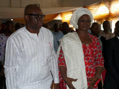 ayo fayose birthday with his wife