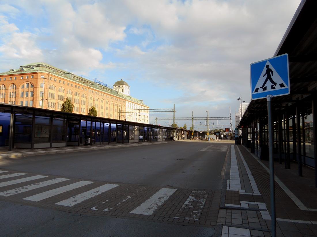 11 agosto, 7:30 alla stazione di Kristianstad