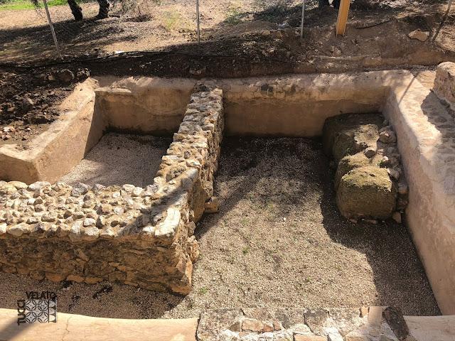 Una de las albercas de la villa romana de el ruedo