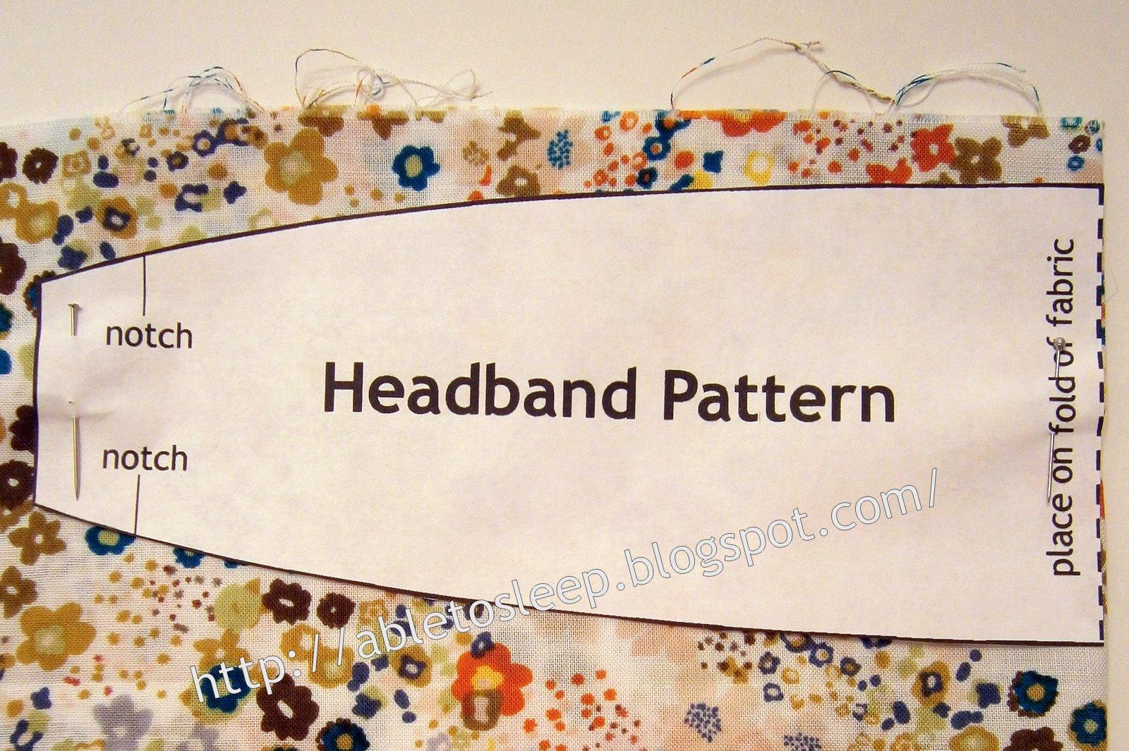 Able To Sleep Headband Tutorial