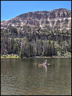 More Hubby fishing on Moosehorn Lake