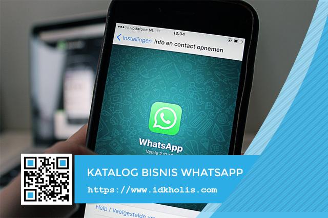 Fitur baru whatsapp business, katalog produk bisnis toko online