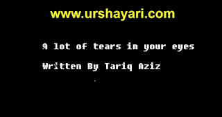 A lot of tears in your eyes With English To Urdu Translation