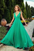 Rochie Catalyna Verde • Rochii lungi ieftine