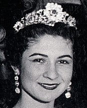 floral tiara yellow diamond egypt queen farida