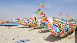 Plage de Peche has boats in all colors and shapes