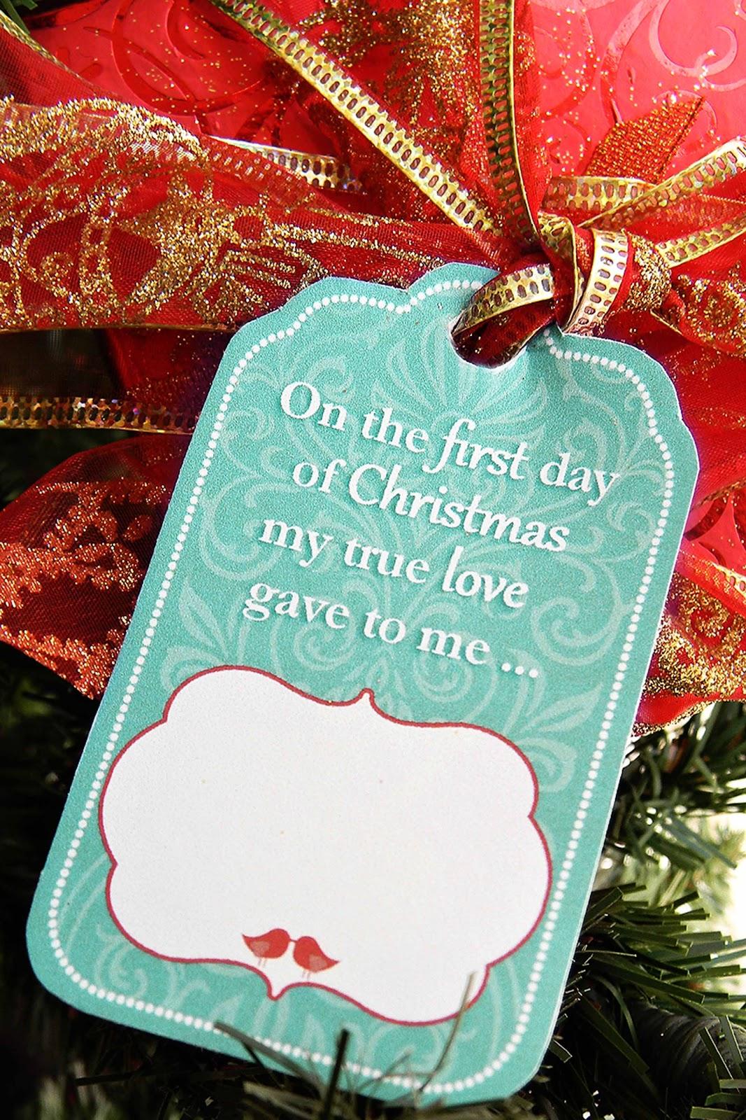 Family Home Fun 12 Days Of Christmas T Tag Printables