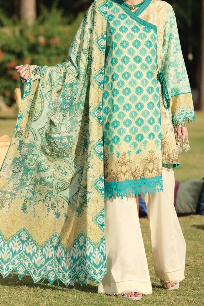 Almirah Aqua color lawn Eid collection 2020