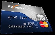 Vista previa de una tarjeta Payoneer