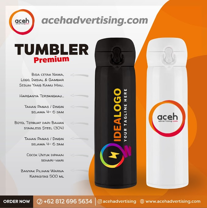 Tumbler Custom Logo - Aceh Advertising