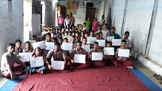 दृष्टि एवं बाधितार्थ विद्यालय में मनाई गांधी की जयंति