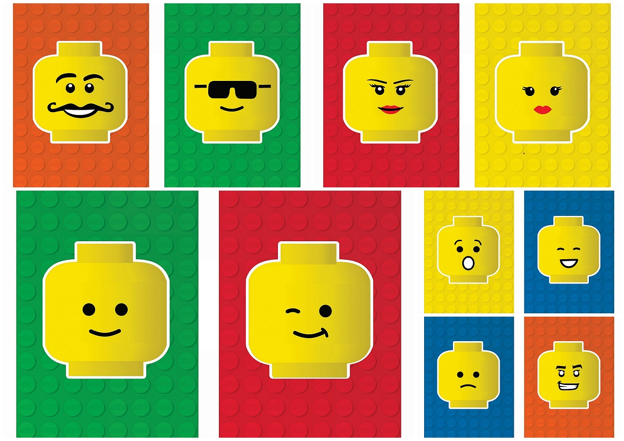 It is an image of Lego Faces Printable inside decal