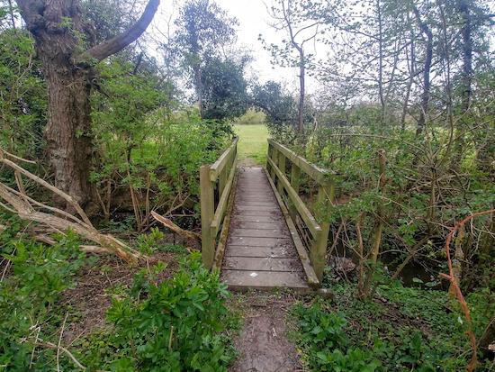 The footbridge over Catharine Bourne