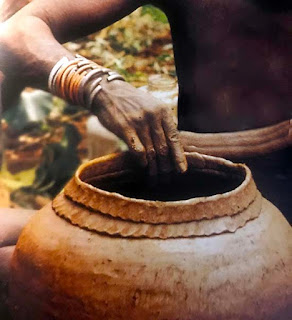 Pottery making in Africa began around 9400 BC and continues to this day.