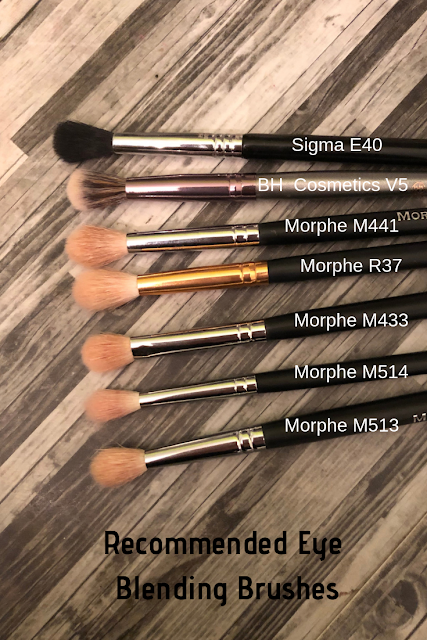Recommended Eye Blending Brushes (Sigma, BH Cosmetics, Morphe)
