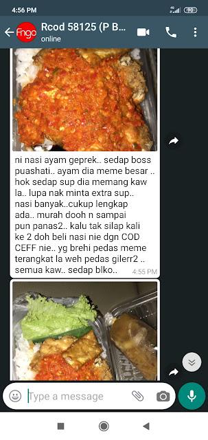 Feedback nasi ayam geprek terangkat Kota Bharu food delivery #codchef