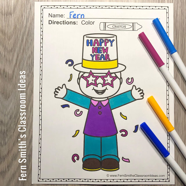 Happy New Years Coloring Book updated with 10 NEW pages. You can now celebrate 2021 to 2030 with ten years of Happy New Year Pages! Enjoy, Fern
