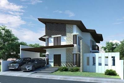 2 Storey Minimalist House Designs