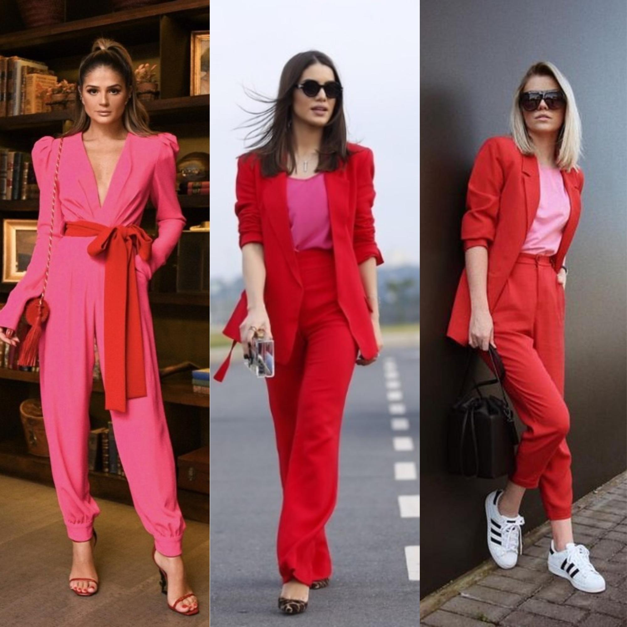 Dicas de Combinações de Looks com a cor Rosa