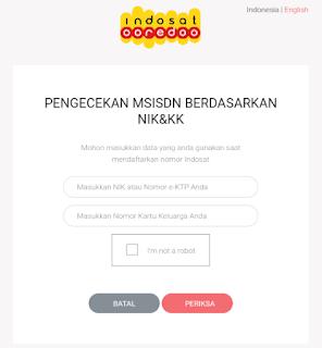 cek NIK secara online dengan Indosat