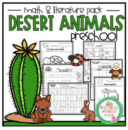 """Desert Animals Math & Literature Pack """"No Prep ..."""